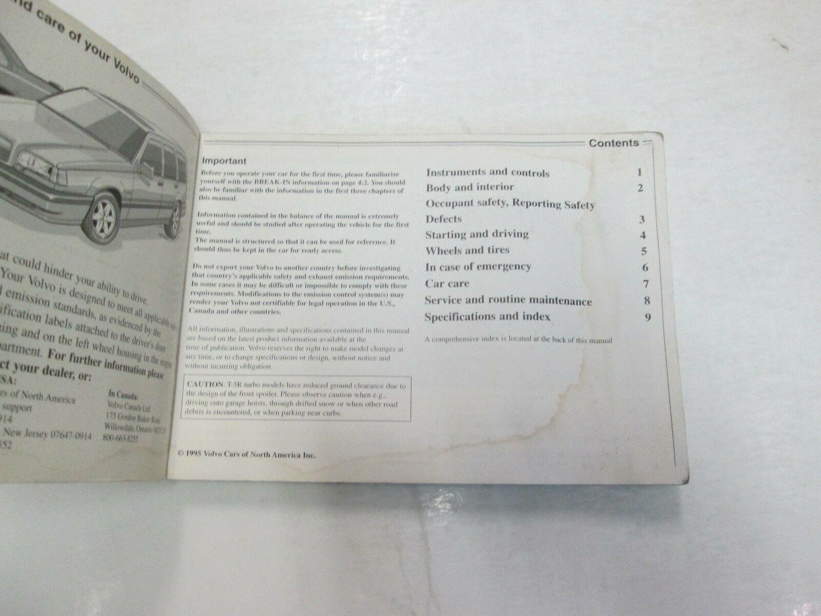 1996 Volvo 850 Owners Manuell Set Wasser Beschädigt Neu Fabrik OEM Buch 96 *** image 5