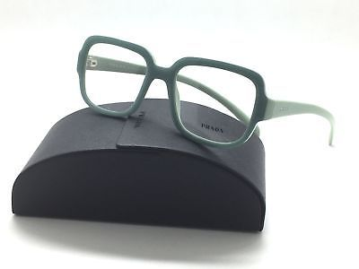 Prada VPR 15R Optical Frame Authentic Opal Dark Green TKQ-101 Eyeglasses RX 53mm