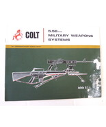 Colt 5.56 mm Military Weapons Systems vintage catalog Bulletin D-2 US CA... - $9.00