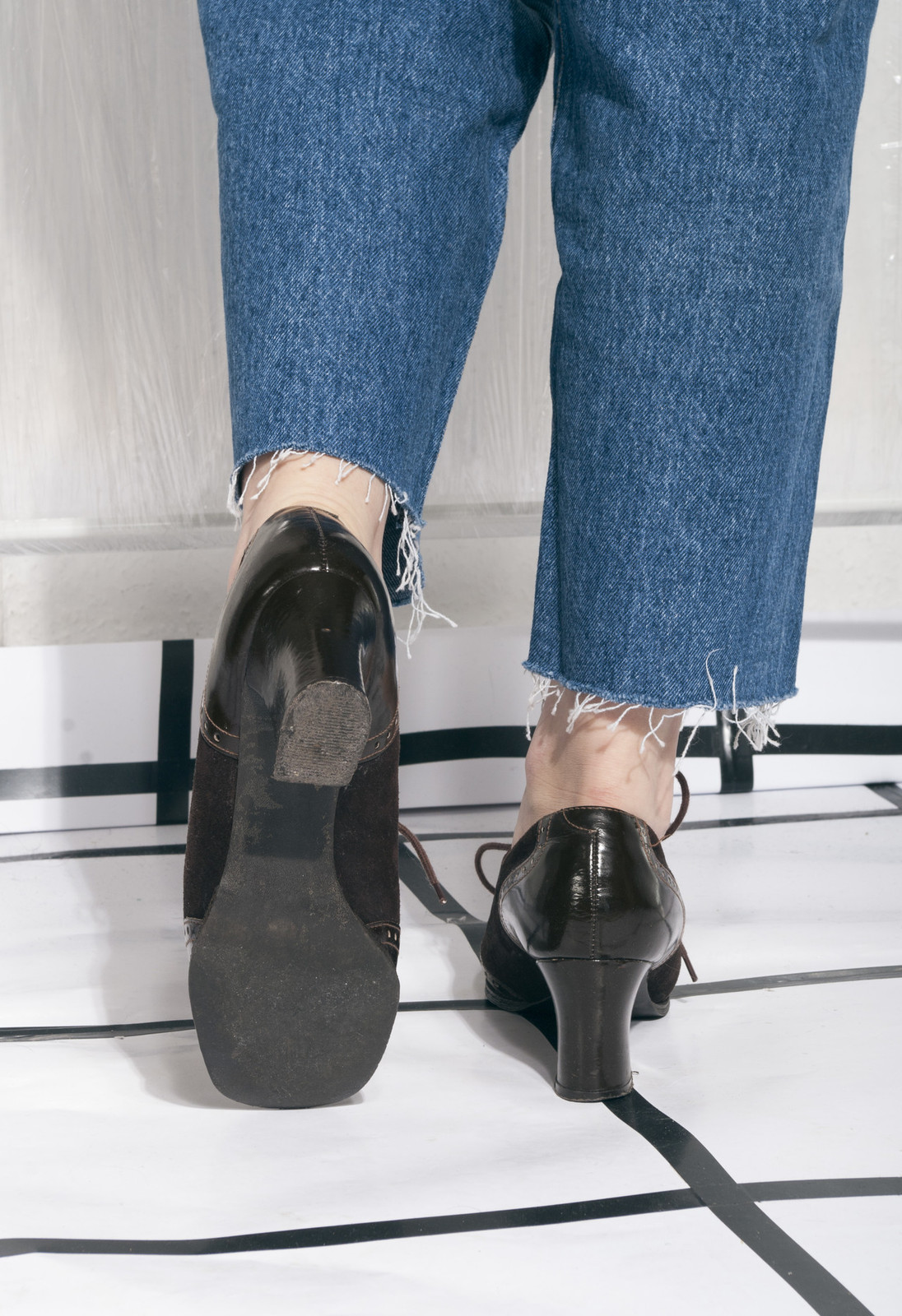 c8c70d5a072c 70s vintage leather shoes w chunky heels and similar items