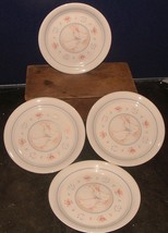 """Set of 4 Corning Corelle Country Promenade Geese 8 1/2"""" Luncheon Plates - $11.87"""