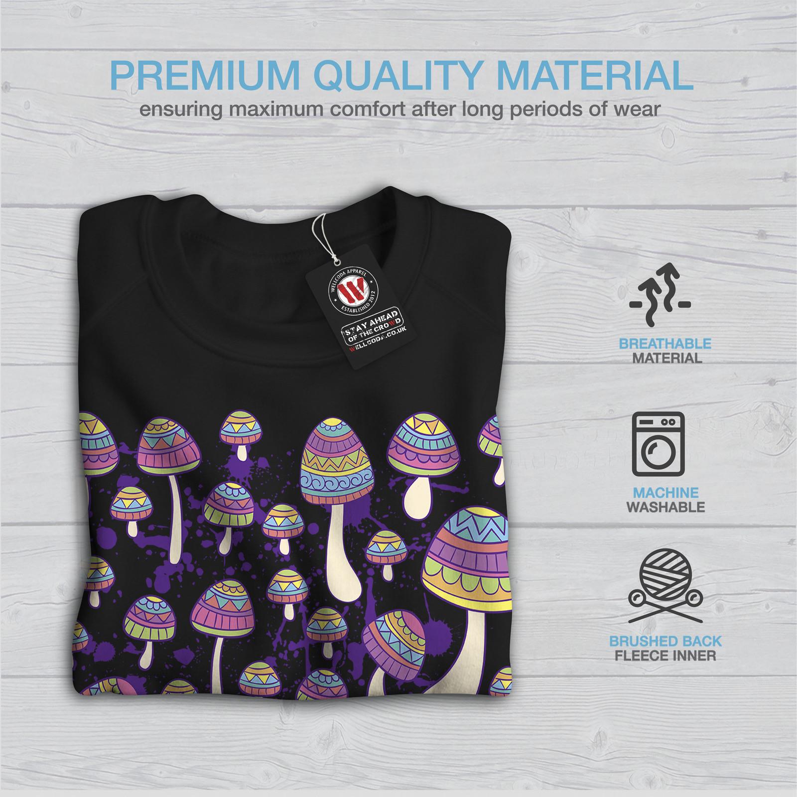 Funny Casual Hooded Sweatshirt Wellcoda Artsy Mushroom Head Womens Hoodie
