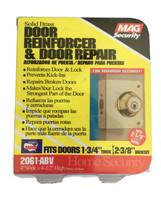 Solid brushed antique brass door reinforcer & Repair New Sealed Mag Secu... - $21.75