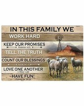 In This Family Poster, For Decor Bedroom, Bathroom, Gift For Mom And Dad - $21.75