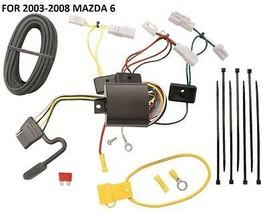 2003-2008 Mazda 6 Trailer Hitch Wiring Kit Harness Plug & Play T-ONE Brand New - $56.38