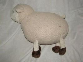"Stuffed Plush Beige Cream Tan Lamb Sheep Brown Pillow 17"" Animal Adventure? - $59.34"
