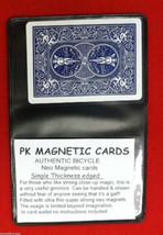 PK Magnetic Bicycle Card - Blue Back - Neodymium Magnet - Magic Trick - £7.55 GBP