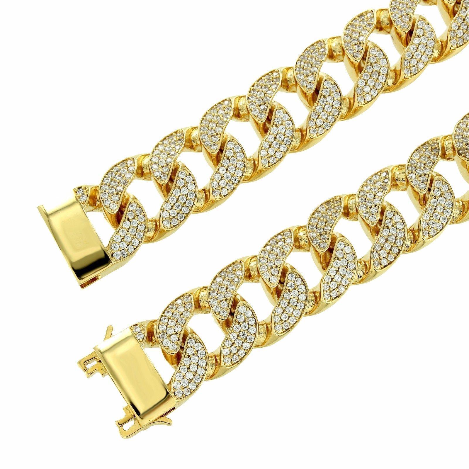 14K Yellow Gold Fn 10Ct D/VVS1 Diamonds Tennis Chain Necklace 925 Silver