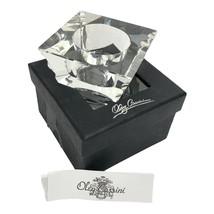 Oleg Cassini Crystal Votive Tealight Candle Holder in Box New Unused - $20.95