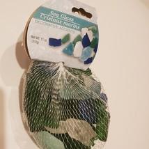 Sea Glass, Decorative Accent Gems, Green Blue White Stones, 11oz bag image 2