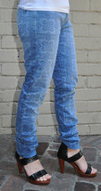 Current Elliott Roller Navy Bandana Hoodlum Jeans 23 Womens - $48.85