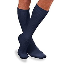 SensiFoot Knee-High Mild Compression Diabetic Sock Medium, Navy [1 Pair] - $13.29