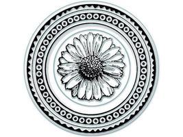 Inkadinkado Personal Impressions Daisy Clear Stamp Set #96394, Set of 2
