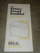 Regal The Better Bread Booklet VERY RARE - $13.09