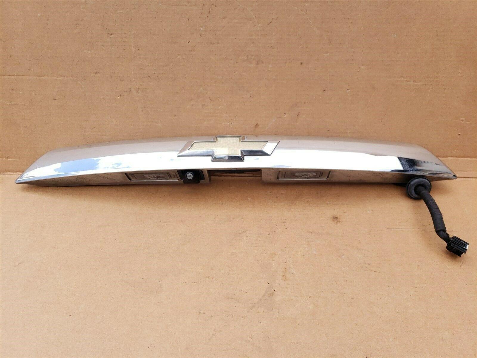 10-13 Chevy Equinox Trunk Liftgate Applique Rear Finish Panel Trim w Camera