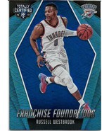 2016-17 TOTALLY CERTIFIED FOUNDATIONS BLUE #18 RUSSELL WESTBROOK 6/99 TH... - $2.99