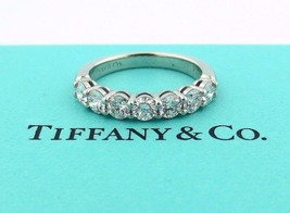 Tiffany & Co Platinum Shared Setting .91CT .93 Diamond 3.5MM Band 5.5 W/ Papers! - $5,175.00