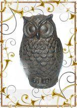Vintage Cast Iron Owl Match Safe - $45.00