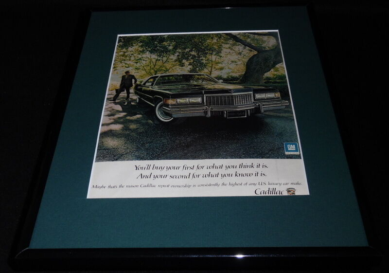 Primary image for 1975 Cadillac 11x14 Framed ORIGINAL Vintage Advertisement