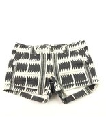 American Eagle Outfitters Women's Shorts Midi Stretch Black White Tribal... - $19.79