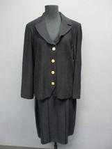 ST. JOHN Black Long Sleeve Blazer Sz 12 Knee Length A Line Skirt Sz 10 D... - $395.99