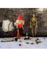 Wizard Oz Witch MIP McDonalds Gemstones Skeleton Handmade Spellbook Broom SET  - £30.78 GBP