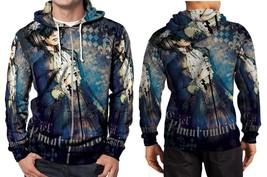 black butler Ciel phantomhive blue Hoodie Zipper Fullprint Men - $46.80