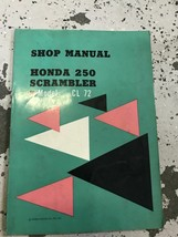 1963 1964 1965 Honda 250 Scrambler Service Shop Repair Manual Factory OEM - $47.51