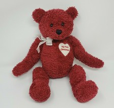 "13"" BABY GUND MY FIRST CHRISTMAS RED TEDDY BEAR STUFFED ANIMAL PLUSH TOY... - $55.17"