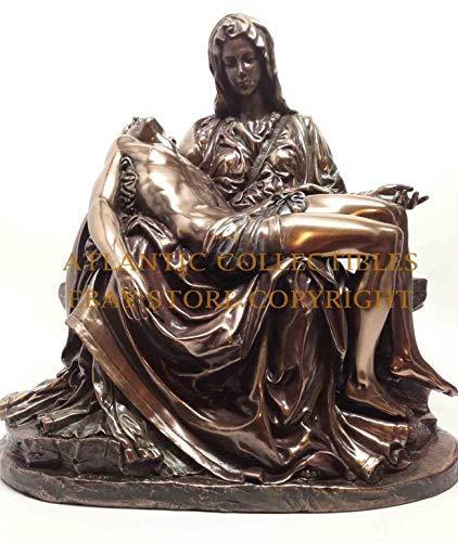 Atlantic Collectibles Michelangelo Vatican Reproduction of La Pieta Decorative Figurine 10.5 Tall
