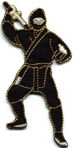 Ninja shinobi mercenary kung fu martial arts Japan applique iron-on patc... - $2.95