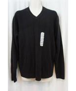 JA John Ashford Mens Sweater Sz XL Deep Black Acrylic V Neck Evening Swe... - $31.91