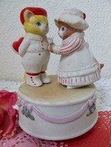 Kitty Cucumber Valentines Day Music Box 1985 The Look of Love Schmid B. ... - $24.99