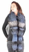 Saga Furs Baby Powder Blue Silver Fox Wrap Scarf Boa Stole Wristbands Cuffs - £148.25 GBP