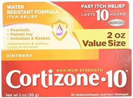 Cortizone 10 Maximum Strength Ointment, 2 Ounce, Anti-Itch Ointment for Poison I