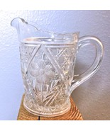 "Vintage Pressed Glass Daisy  Creamer 5"" - $23.40"