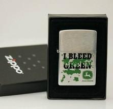 """Retired """" I Bleed Green"""" John Deere Zippo Lighter - $66.45"""