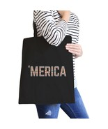 With 'merica Black Canvas Bag Tribal Pattern America Lettering Bag - $15.99