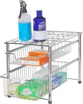 2Tier Sliding Basket Organizer Drawer-Storage,Shelf,Cabinet,Kitchen,Tabl... - €35,29 EUR