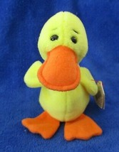 Ty Beanie Baby Quackers 5th Generation Hang Tag PVC Filled USED - $5.93