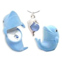Dolphin Necklace for Girls Kids Animal Crystal Pendant Necklace Chain Gi... - $14.29