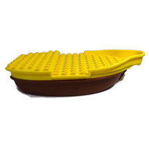 Lego Boat Ship Building Toy 2 Pieces 2012 Yellow Brown 11 inch Long - $19.77