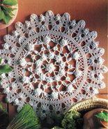 8X Pineapple Promise Wheel Challenging Intricacy Pinecone Crochet Doily ... - $9.99