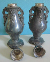 Vintage Wallace Baroque Silverplate Salt and Pepper Shakers Unpolished C... - $36.00