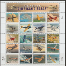 1997 Classic American Aircraft - Sheet of Twenty Stamps Scott 3142 - $12.22