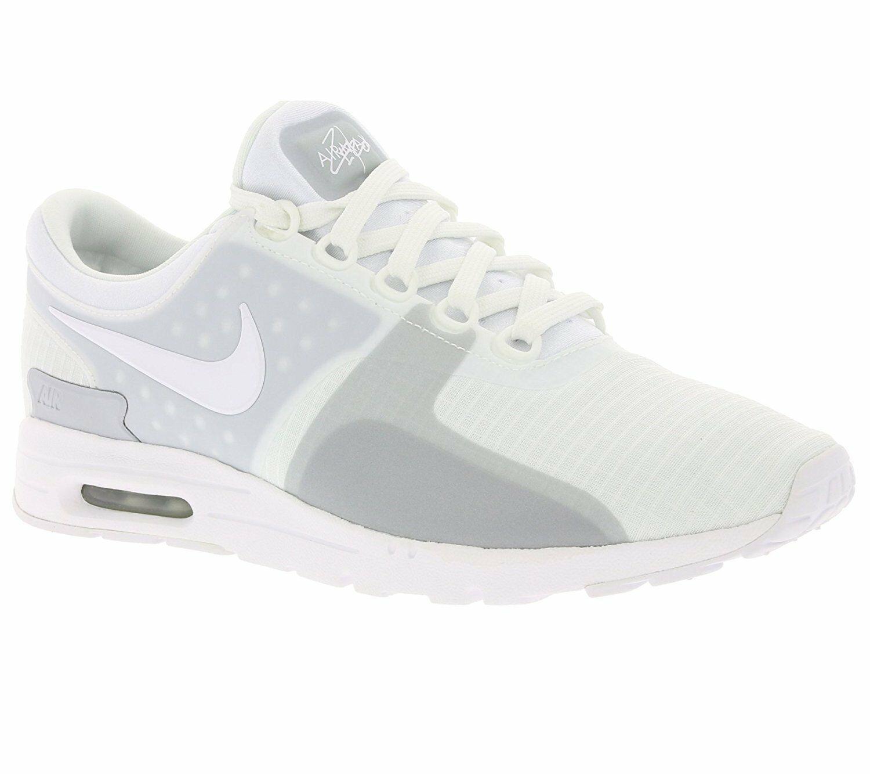 3543d5320e Nike Women's W Air Max Zero SI, 881173-100 WHITE/WHITE-WOLF GREY SIZE 8,  9.5,10