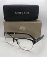 Neu Versace Brille MOD.1233-Q 1366 53-17 140 Schwarz & Gold Katze Auge m... - $299.96