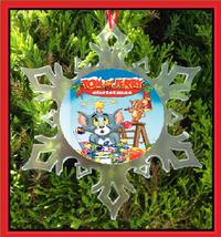 Tom And Jerry Christmas Ornament - X-MAS Snowflake Ornament - $12.95