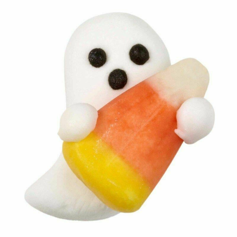 Ghost with Candy Corn 12 Ct Royal Icing Decorations Wilton - $7.91