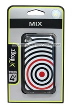 iFROGZ Case for IPOD TOUCH 4G Black+Red Target Design MIX Hard Polycarbo... - $5.93